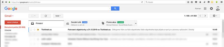 Potvrzovací email